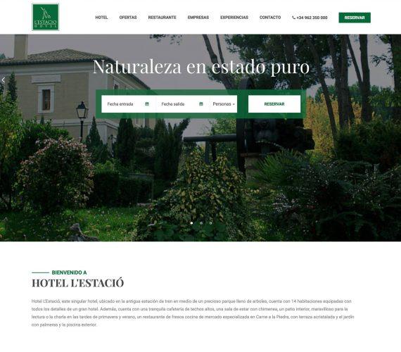 Hotel L'Estació Bocairent estrena nova web